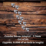 Concho Screws 2.5mm (lot of 10) (CON00898-E-TH199992-2.5mm-10)