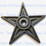 6-1/4 Inch Cast Iron Architectural Stars