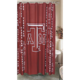 Texas A&M Aggies Fabric Shower Curtian