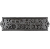 Signs & Plaques KEEP CALM AND DRANK BEER Rustic Decor