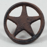 Rustic Cast Iron Star In Circle With Nail