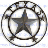 Star Metal Art Texas 24 Inch Wall Decor
