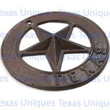 Texas Cast Iron Star Wall Plaques