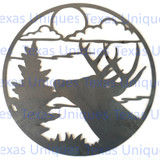 Wildlife Metal Art Deer Wall Cutout