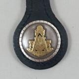 Masonic Past Master Key Fob Black