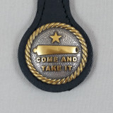 TEXAS COME AND TAKE IT KEY FOB BLACK LEATHER