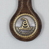 DON'T TREAD ON ME KEY FOB BROWN