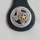 Texas Key Fob Black Leather