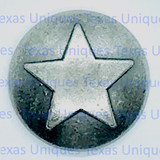 Western Decorative Star Upholstery Tacks & Nails Old Silver