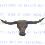 Longhorn Rustic Brown Wall Plaque