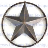 23 Inch Rustic Brown Metal Star Wall Decor