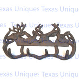 Rustic Cast Iron Deer Elk Gear Hook