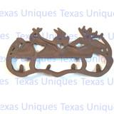 Rustic Cast Iron Deer Elk Gear Hook