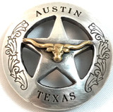 Austin Texas Ranger Star Longhorn Concho