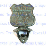 Decorative ROUTE 66 Open Here Cast Iron Bottle Opener