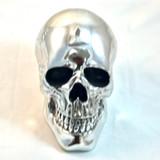 Silver Skull Figurine Statue Sculpture