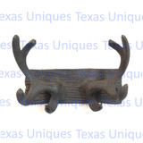 Rustic Metal Lodge Antler Hooks