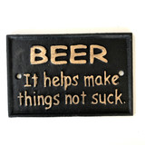 Metal Wall Decor Beer Sign