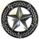 Star & Barbwire Cabinet Antique Silver Finish Knob