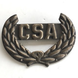 Civil War Insignia CSA in Wreath