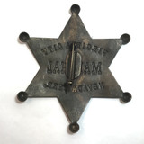Old West Virginia City Marshall Brass Badge