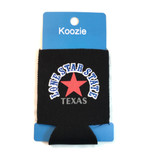 Texas Lone Star State Koozie Black