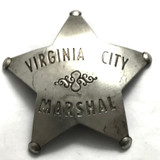 Old West Virginia City Marshall Badge