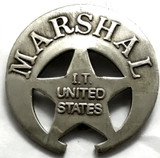 Old West Marshall Indian Territorial United States Badge