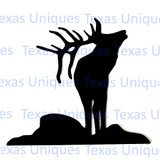 Metal Art Elk Cut Out