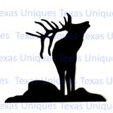 Metal Art Elk Cut Out