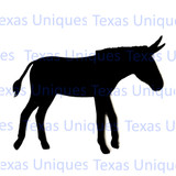 Metal Art Cut Out Mule Donkey