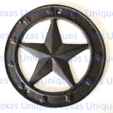 6 Inch Cast Iron Star Plaque