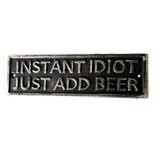 Metal Beer Sign Decor