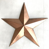 Copper Style Finish Metal Star Wall Decor