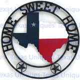 Texas Home Sweet Home Metal Art State Of Texas With Stars