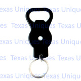 Metal Hand Held Blank Bottle Opener With Key Ring