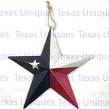 Texas Painted Patriotic Star Metal Art