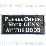 Metal Wall Art Signs & Plaques Check Your Gun