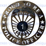 Police Wall Art Plaque Metal Cut Out