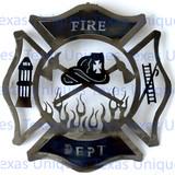 FIREMAN CROSS FIREFIGHTER MALTESE CROSS METAL WALL ART CUT OUT