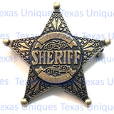 Old West Engraved Sherriff Badge