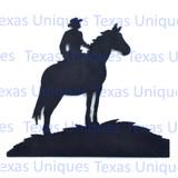 Western Metal Art Ranch Cowboy