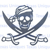 Jolly Roger Pirate Metal Cut Out