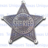Old West Replica Badge Sheriff Lincoln County