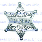 Old West Replica Badge Marshall Star