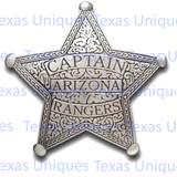 Old West Captain Arizona Ranger Reproduction Badge