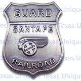 Old West Santa Fe Railroad Reproduction Badge