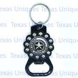 Texas State Seal Silver Hand Held Bottle Opener
