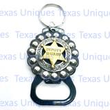 Deputy Sheriff Star Hand Held Bottle Opener