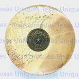 Soapstone Round Box Texas  State Seal